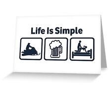 Funny Snowmobile Life Is Simple Greeting Card