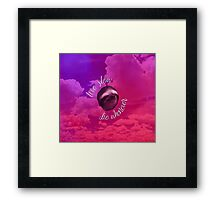 Live Slow, Die Whenever - Clouds Framed Print