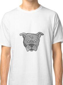 Angry Bulldog Head Cartoon Classic T-Shirt
