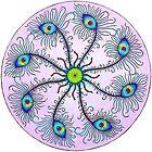 Peacock Wheel Mandala by Mala-Tichan