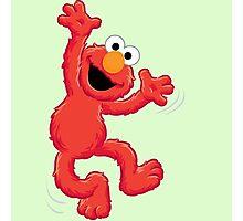 Elmo Happy Photographic Print