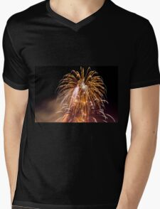 4th of July fireworks. Photographed in Studio City Los Angeles, California  Mens V-Neck T-Shirt