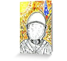 Cartoon Painted Astronaut 2 Greeting Card