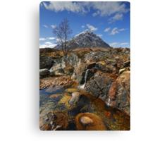 Coupall Cascades and Buachaille Etive Mor Canvas Print