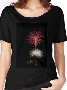 4th of July fireworks. Photographed in Studio City Los Angeles, California  Women's Relaxed Fit T-Shirt
