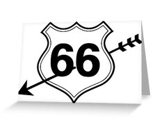 My heart is on route 66 Greeting Card