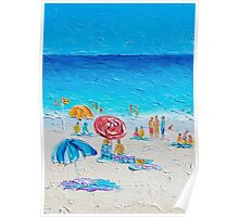 Beach painting - Summer Wind Poster