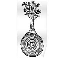 Tree Trunk Swirl Poster