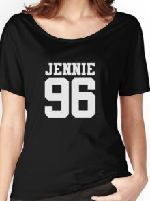 BLACKPINK Jennie 96 (White) Women's Relaxed Fit T-Shirt
