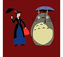 Mary Poppin and totoro umbrela Photographic Print
