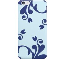 French Damask, Ornaments, Swirls - Blue  iPhone Case/Skin