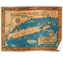 1953 Long Island map - special gift idea Poster