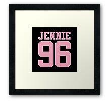 BLACKPINK Jennie 96 (Pink) Framed Print