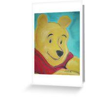Winnie the Pooh - Aqua Greeting Card