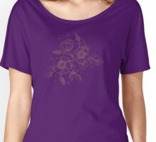 Hand Drawn Flower Women's Relaxed Fit T-Shirt
