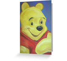Winnie the Pooh - Blue Greeting Card
