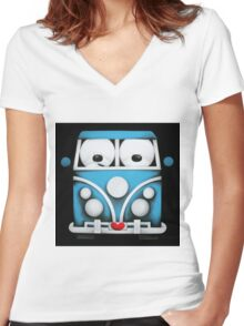 Happy Campers Women's Fitted V-Neck T-Shirt