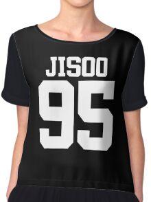 BLACKPINK Jisoo 95 (White) Chiffon Top
