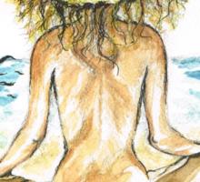 Beach Yoga Sticker