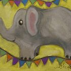 One Grey Elephant Balancing by justineb