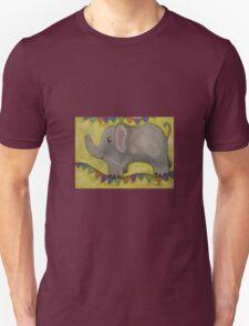 One Grey Elephant Balancing Unisex T-Shirt