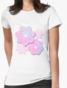 Abstract Lotus Flowers Womens Fitted T-Shirt