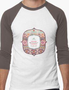 Seamless pattern in native american style Men's Baseball ¾ T-Shirt