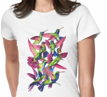 Hummingbird Dance in Sharpie Womens Fitted T-Shirt