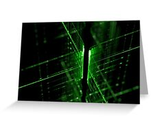 green technology lines background Greeting Card