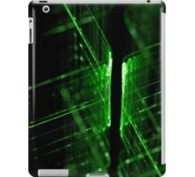 green technology lines background iPad Case/Skin