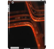 abstract orange glowing lines with bokeh effect iPad Case/Skin