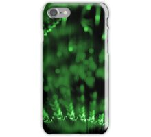 abstract green lights in dark background iPhone Case/Skin