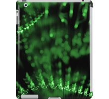 abstract green lights in dark background iPad Case/Skin