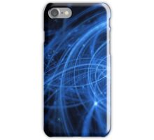abstract blue wavy lines iPhone Case/Skin