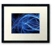 abstract blue wavy lines Framed Print