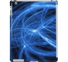 abstract blue wavy lines iPad Case/Skin