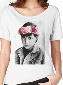 Johnny Cade Flower Crown Women's Relaxed Fit T-Shirt