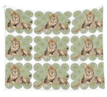 Roar Leo optical ilusion Wall Tapestry