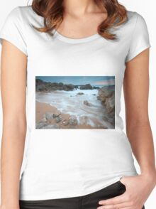 Dunas of Liencres natural park Women's Fitted Scoop T-Shirt