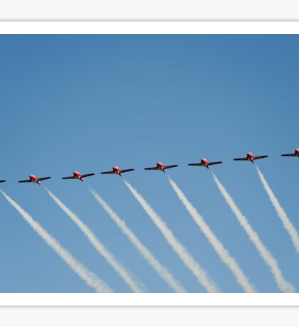 The Canadian Forces Snowbirds preform the 8 plane line abreast. Sticker