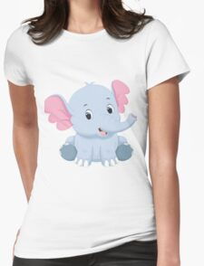 cute elephant Womens Fitted T-Shirt