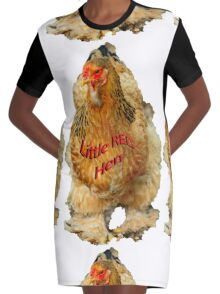 Little Red Hen Graphic T-Shirt Dress