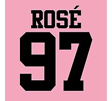 BLACKPINK Rose 97 (Black) Photographic Print