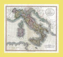Italy map by John Cary - 1799 Kids Tee