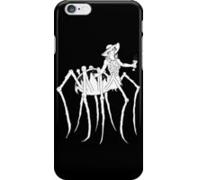WHT on BLK Collection: Black Widow at a Funeral iPhone Case/Skin