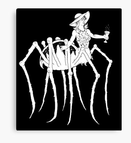WHT on BLK Collection: Black Widow at a Funeral Canvas Print