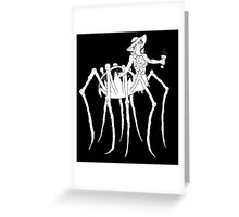 WHT on BLK Collection: Black Widow at a Funeral Greeting Card