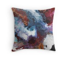 Colours of the Reef 2 - Abstract Acrylic Painting Throw Pillow