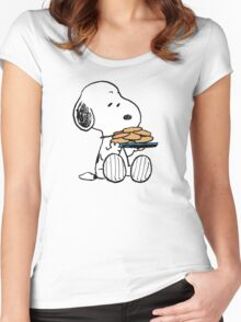 love cookies snoopy Women's Fitted Scoop T-Shirt