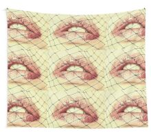 Kiss On The Net Wall Tapestry